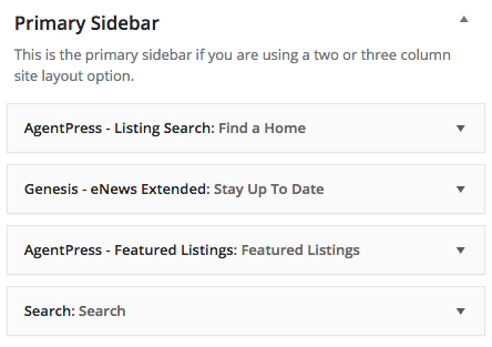 primary sidebar widgets