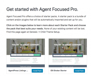 agent focused theme onboarding