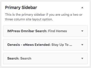 primary sidebar widgets