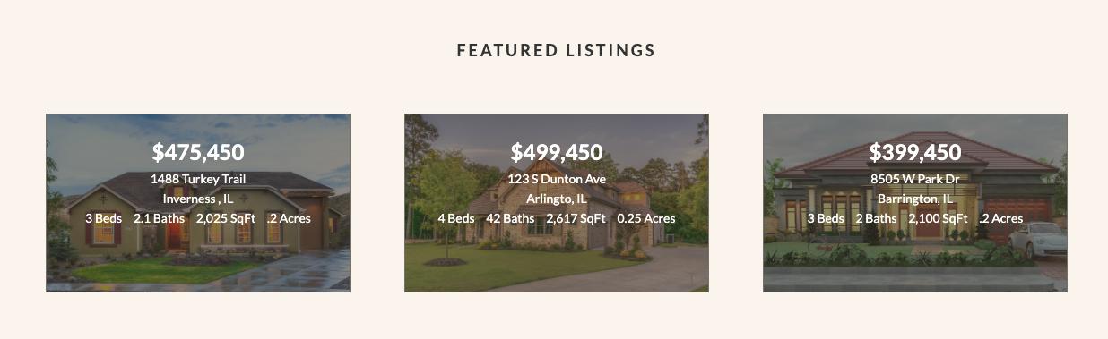home listings widget area