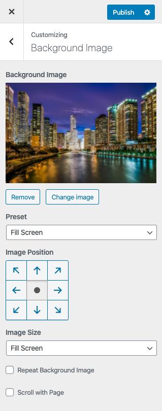 add background image settings
