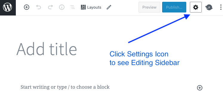 wordpress settings icon
