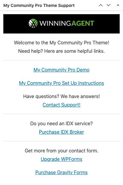 my community pro support widget