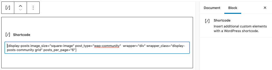 neighborhoods section shortcode block with Display Posts Shortcode