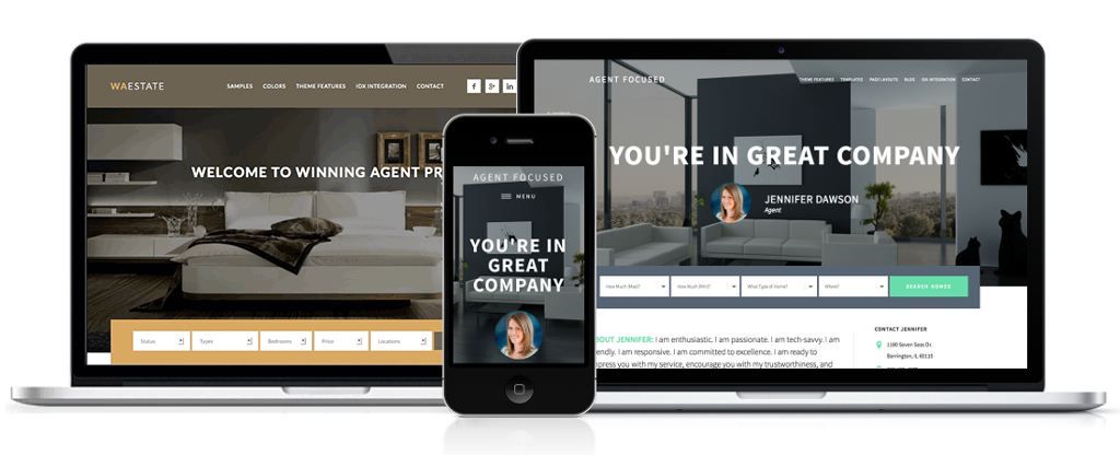 winning agent pro and agent focused pro themes